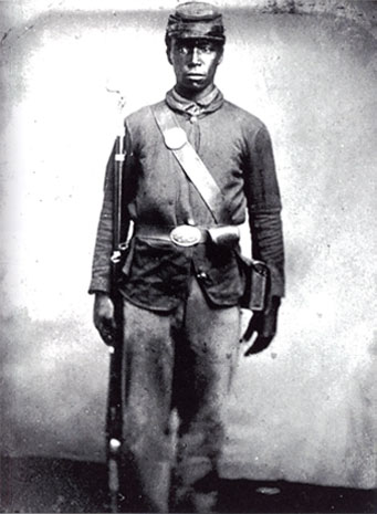 black Civil War soldier photo