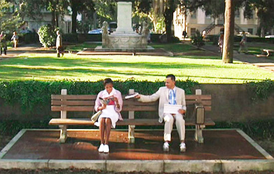 Chippewa Square Forrest Gump Bench