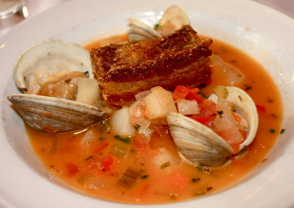 Olde Pink House Pork Belly with Clams
